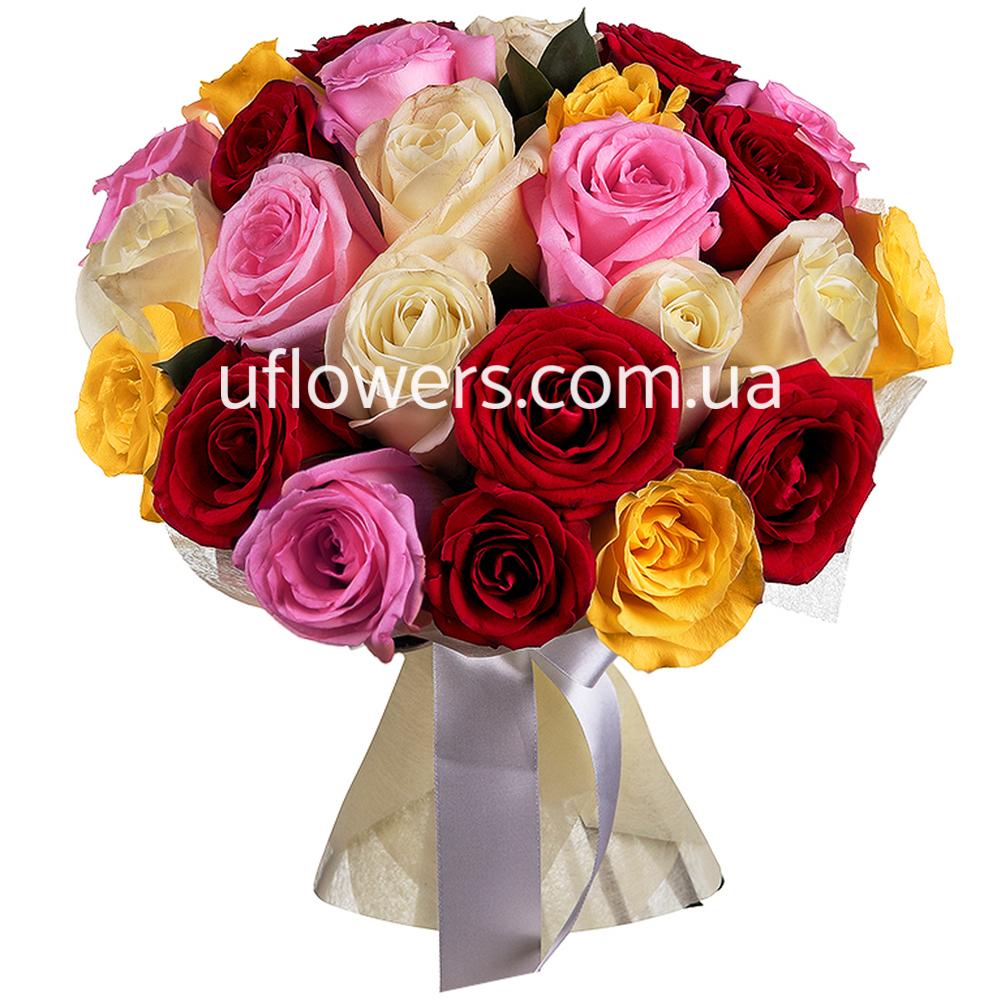 Цветы доставка киев букет роза, оптовые рынки цветов в украине