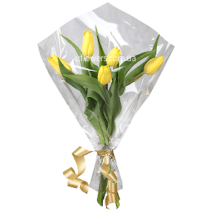 Корпоративный букет  из тюльпанов
