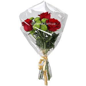 Корпоративный букет из роз с доставкой в Киеве