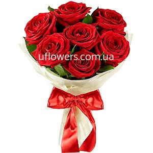 Красные розы 7 шт.