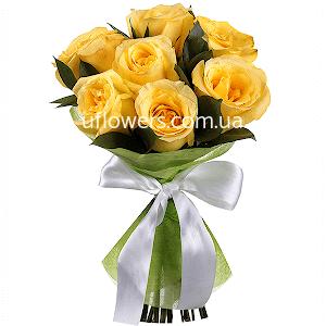 Желтые розы 7 шт.