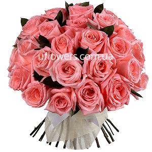 Розовые розы 35 шт.