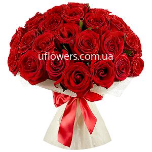 Краcные розы 35 шт.