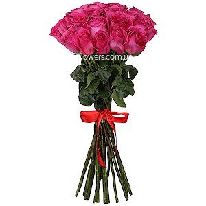 Розовые розы элитные 21 шт.