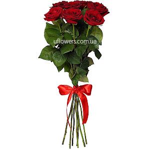 Красные розы элитные 7 шт.
