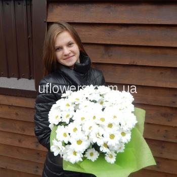 Доставлен Букет из 25 белых роз!
